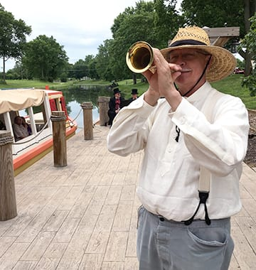 take a ride aboard the delphi at the wabash erie canal