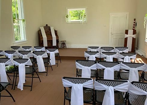 the little white church holds fifty guests