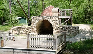 view a lime kiln from the early canal days