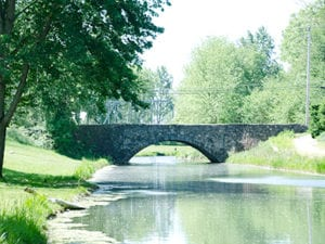 see the stone arch created in 1901 at our canal park