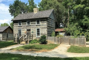 see the authentic log fouts house at our historic pioneer village