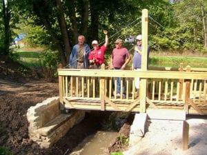 walk along our recreated pivot bridge