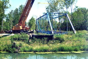the blue bridge was relocated to delphi indiana