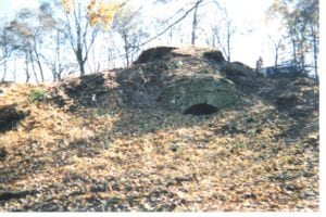 an example of a lime kiln at the wabash and erie canal before restoration