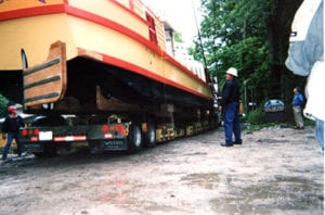 the delivery of the delphi canal boat