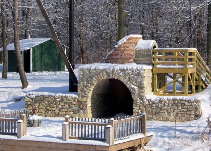 view a fully restored lime kiln in delphi at the wabash and erie canal