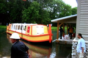 take a group tour aboard the narrated delphi canal boat