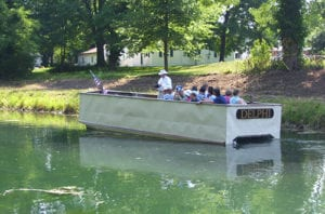 view the original canal boat at the wabash and erie canal