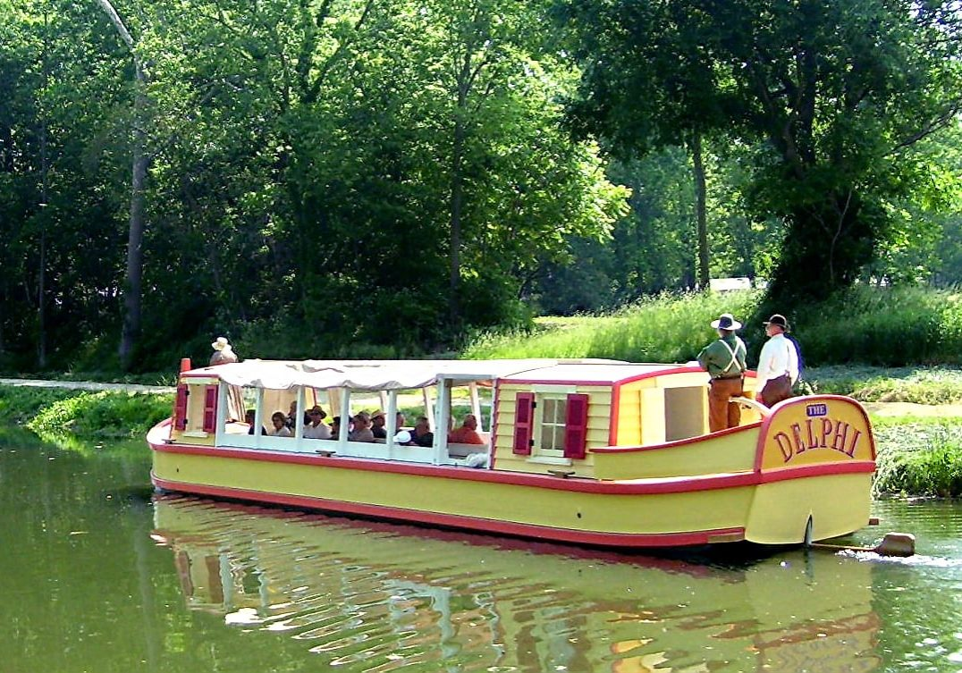 get a narrated tour on the delphi canal boat