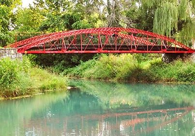 the wabash and erie canal has bridges for you to explore