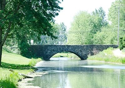 we have six historic bridges for you to walk on