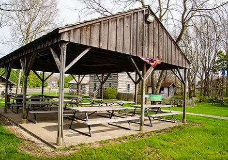 use our picnic shelters for family reunions in delphi